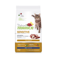 Trainer Natural Sensitive sausas maistas katėms su antiena 1,5kg