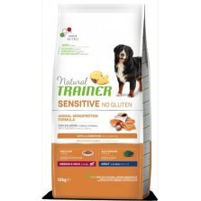Tainer Natural DOG SENSITIVE NO GLUTEN ADULT M/M SALMON (lašiša) 12kg