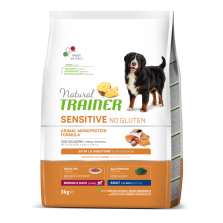 Tainer Natural DOG SENSITIVE NO GLUTEN ADULT M/M SALMON (lašiša) 3kg