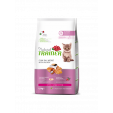 Trainer Natural Cat Kitten Salmon kačiukams su lašiša 1,5kg