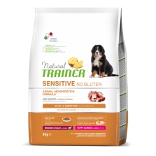 Trainer Natural PUPPY/JUNIOR  M/M DUCK  NO GLUTEN (su antiena) 3kg