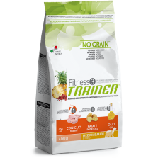Trainer Fitness 3 Adult Medium/Maxi NO GRAIN Rabbit*Potatoes*Oil (Triušiena,Bulvės,Aliejus) 3kg