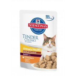 Hill's SP Feline Adult Urinary Health Hairball Control Chicken 85g