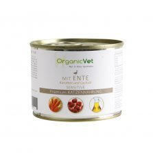 OrganicVet - Duck with carrots & salmon oil konservai katėms 200g