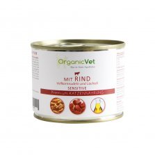 OrganicVet - Beef with pasta & salmon oil konservai katėms 200g