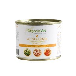 OrganicVet Poultry with peas & carrots konservai šunims 200g