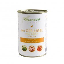 OrganicVet Poultry with peas & carrots konservai šunims 400g