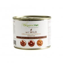 OrganicVet Game with pasta & cranberries konservai šunims 200g