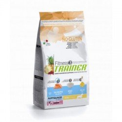 Trainer Fitness3 Puppy&Junior M/M Salmon/Rice/Oil NO GLUTEN 12,5 kg
