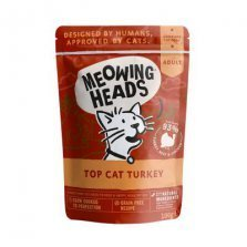 Meowing Heads - Wet Top Cat Turkey (kalakutiena/jautiena/vištiena) 100g
