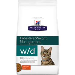 Hill's Prescription Diet w/d Feline - Katėms linkusioms tukti